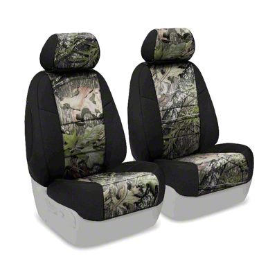 Coverking Mossy Oak Neosupreme Front Seat Covers - Obsession/Black (07-18 Jeep Wrangler JK)