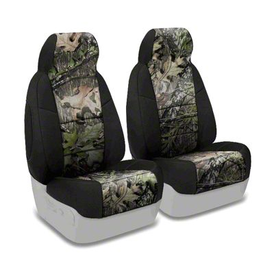 Coverking Mossy Oak Neosupreme Front Seat Covers - Obsession/Black (87-95 Jeep Wrangler YJ)
