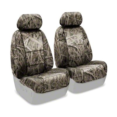 Coverking Mossy Oak Neosupreme Front Seat Covers - Shadow Grass (07-18 Jeep Wrangler JK)
