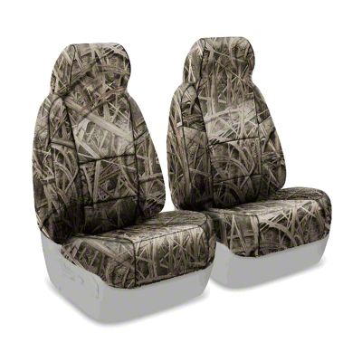 Coverking Mossy Oak Neosupreme Front Seat Covers - Shadow Grass (87-95 Jeep Wrangler YJ)