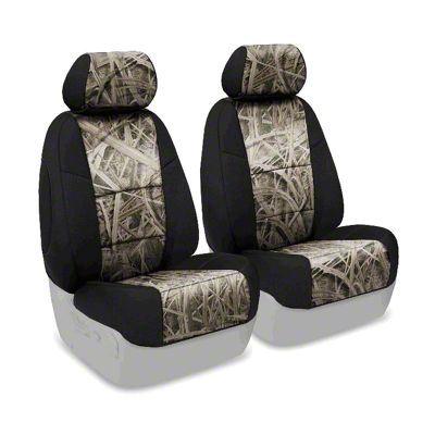 Coverking Mossy Oak Neosupreme Front Seat Covers - Shadow Grass/Black (07-18 Jeep Wrangler JK)