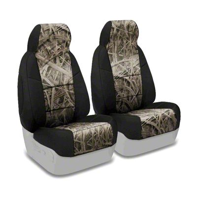 Coverking Mossy Oak Neosupreme Front Seat Covers - Shadow Grass/Black (97-06 Jeep Wrangler TJ)