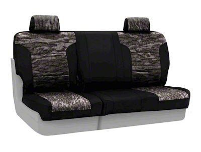 Coverking Mossy Oak Neosupreme Rear Seat Covers - Bottomland/Black (07-18 Jeep Wrangler JK)