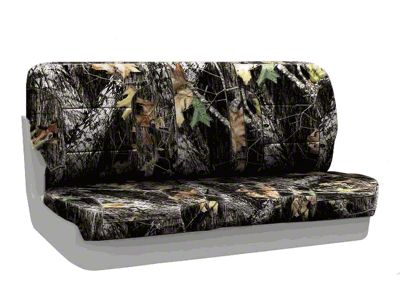 Coverking Mossy Oak Neosupreme Rear Seat Covers - Break Up (87-95 Jeep Wrangler YJ)