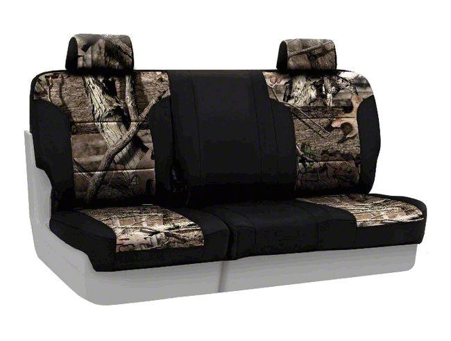 Coverking Mossy Oak Neosupreme Rear Seat Covers - Break Up Infinity/Black (07-18 Jeep Wrangler JK)