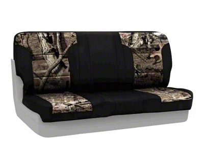 Coverking Mossy Oak Neosupreme Rear Seat Covers - Break Up Infinity/Black (87-95 Jeep Wrangler YJ)