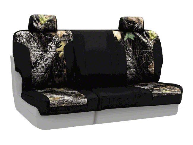 Coverking Mossy Oak Neosupreme Rear Seat Covers - Break Up/Black (07-18 Jeep Wrangler JK)