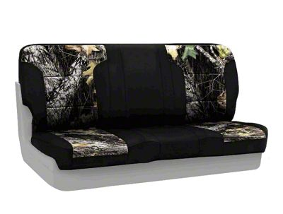 Coverking Mossy Oak Neosupreme Rear Seat Covers - Break Up/Black (87-95 Jeep Wrangler YJ)