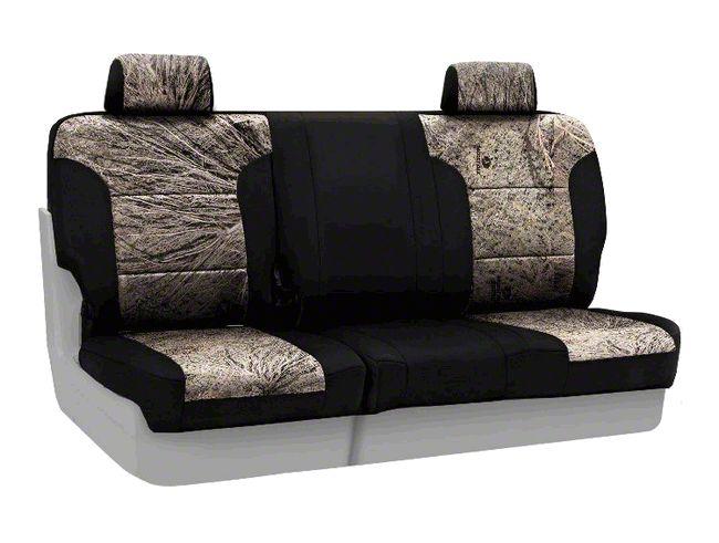 Coverking Mossy Oak Neosupreme Rear Seat Covers - Brush/Black (07-18 Jeep Wrangler JK)