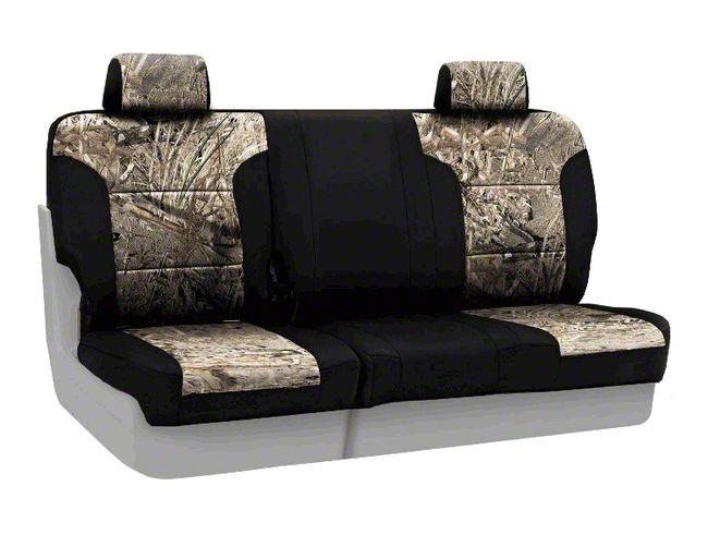 Coverking Mossy Oak Neosupreme Rear Seat Covers - Duck Blind/Black (07-18 Jeep Wrangler JK)