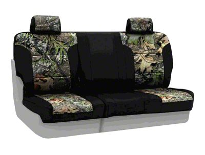 Coverking Mossy Oak Neosupreme Rear Seat Covers - Obsession/Black (07-18 Jeep Wrangler JK)