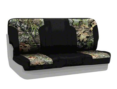 Coverking Mossy Oak Neosupreme Rear Seat Covers - Obsession/Black (97-06 Jeep Wrangler TJ)