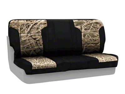 Coverking Mossy Oak Neosupreme Rear Seat Covers - Shadow Grass/Black (87-95 Jeep Wrangler YJ)