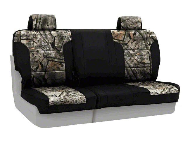 Coverking Mossy Oak Neosupreme Rear Seat Covers - Treestand/Black (07-18 Jeep Wrangler JK)