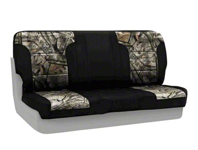 Coverking Mossy Oak Neosupreme Rear Seat Covers - Treestand/Black (87-95 Jeep Wrangler YJ)