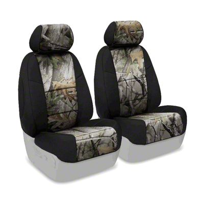 Coverking Next Camo Neosupreme Front Seat Covers - Vista/Black (07-18 Jeep Wrangler JK)