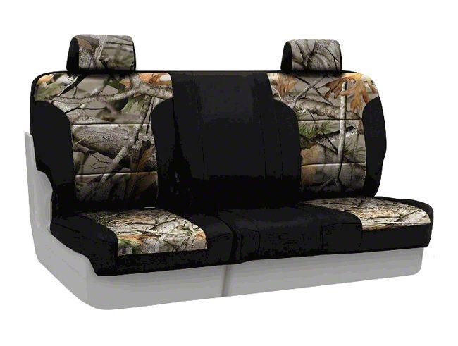 Coverking Next Camo Neosupreme Rear Seat Covers - Vista/Black (07-18 Jeep Wrangler JK)