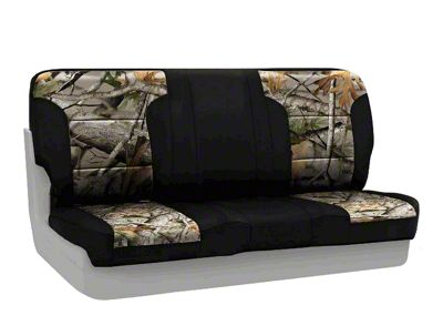 Coverking Next Camo Neosupreme Rear Seat Covers - Vista/Black (97-06 Jeep Wrangler TJ)