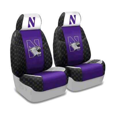 Coverking Northwestern University Front Seat Covers (87-95 Jeep Wrangler YJ)