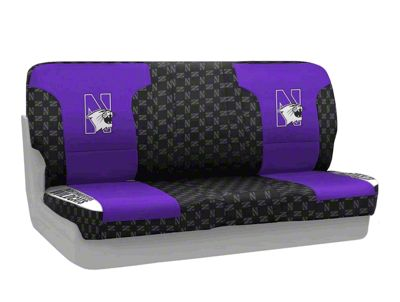 Coverking Northwestern University Rear Seat Covers (87-95 Jeep Wrangler YJ)