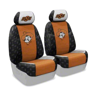 Coverking Oklahoma State University Front Seat Covers (07-18 Jeep Wrangler JK)