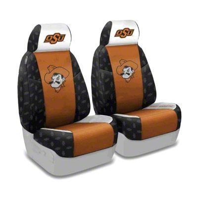Coverking Oklahoma State University Front Seat Covers (97-06 Jeep Wrangler TJ)