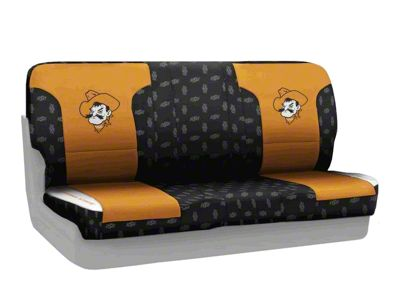 Coverking Oklahoma State University Rear Seat Covers (97-06 Jeep Wrangler TJ)
