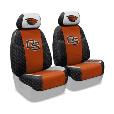 Coverking Oregon State Beavers Front Seat Covers (07-18 Jeep Wrangler JK)