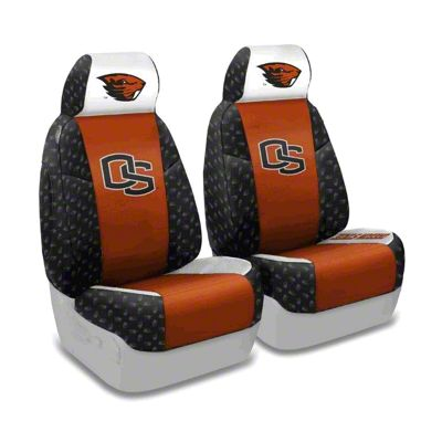 Coverking Oregon State Beavers Front Seat Covers (97-06 Jeep Wrangler TJ)