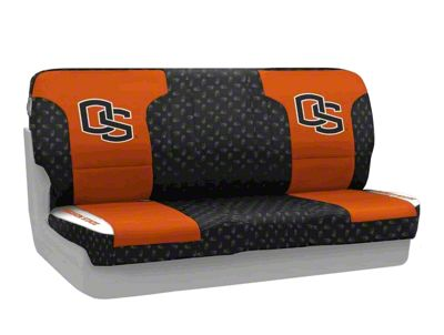 Coverking Oregon State Beavers Rear Seat Covers (87-95 Jeep Wrangler YJ)