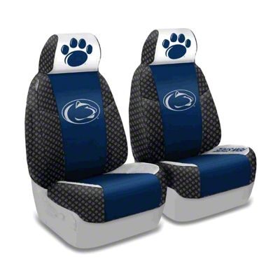 Coverking Penn State University Front Seat Covers (87-95 Jeep Wrangler YJ)