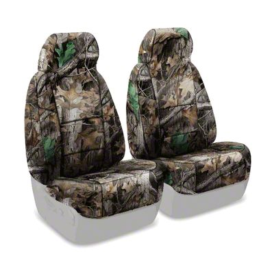 Coverking Real Tree Neosupreme Front Seat Covers - Advantage Timber (87-95 Jeep Wrangler YJ)