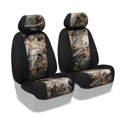 Coverking Real Tree Neosupreme Front Seat Covers - Advantage Timber/Black (07-18 Jeep Wrangler JK)