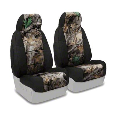 Coverking Real Tree Neosupreme Front Seat Covers - Advantage Timber/Black (87-95 Jeep Wrangler YJ)