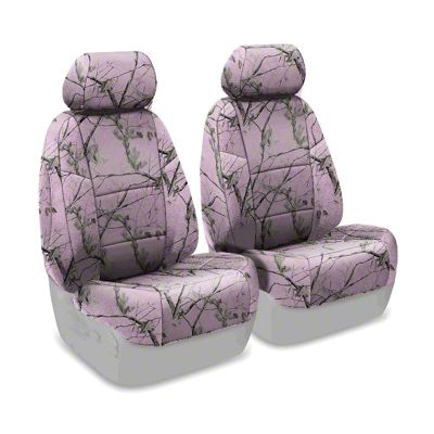 Coverking Real Tree Neosupreme Front Seat Covers - AP Pink (07-18 Jeep Wrangler JK)