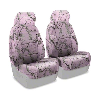 Coverking Real Tree Neosupreme Front Seat Covers - AP Pink (87-95 Jeep Wrangler YJ)