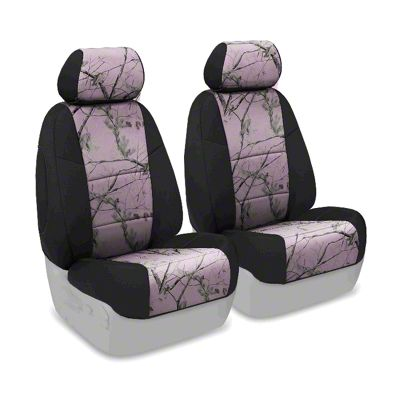 Coverking Real Tree Neosupreme Front Seat Covers - AP Pink/Black (07-18 Jeep Wrangler JK)