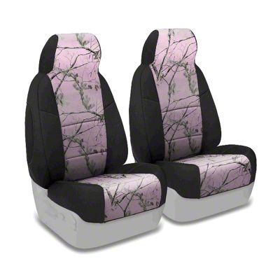 Coverking Real Tree Neosupreme Front Seat Covers - AP Pink/Black (87-95 Jeep Wrangler YJ)