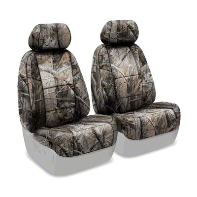 Coverking Real Tree Neosupreme Front Seat Covers - AP Solid (07-18 Jeep Wrangler JK)