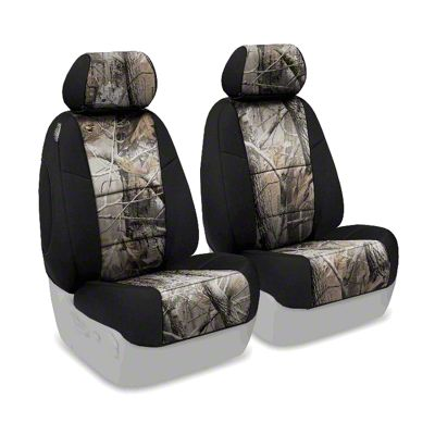Coverking Real Tree Neosupreme Front Seat Covers - AP/Black (97-06 Jeep Wrangler TJ)