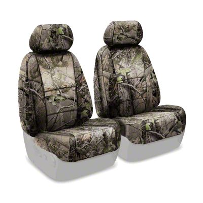 Coverking Real Tree Neosupreme Front Seat Covers - APG Solid (07-18 Jeep Wrangler JK)