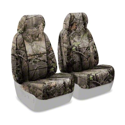 Coverking Real Tree Neosupreme Front Seat Covers - APG Solid (87-95 Jeep Wrangler YJ)