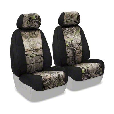 Coverking Real Tree Neosupreme Front Seat Covers - APG/Black (07-18 Jeep Wrangler JK)