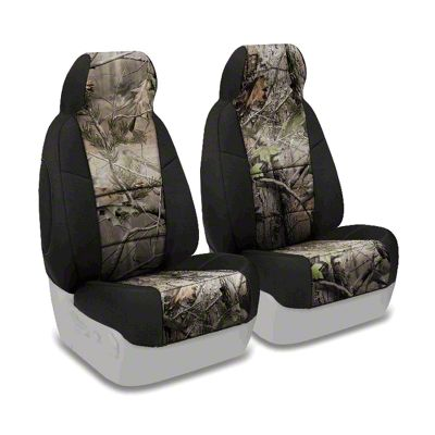 Coverking Real Tree Neosupreme Front Seat Covers - APG/Black (97-06 Jeep Wrangler TJ)