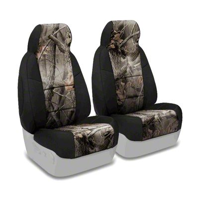 Coverking Real Tree Neosupreme Front Seat Covers - Hardwoods/Black (87-95 Jeep Wrangler YJ)