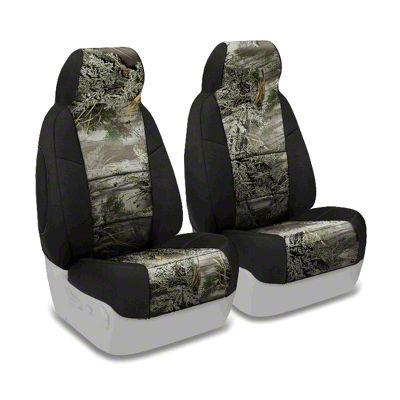 Coverking Real Tree Neosupreme Front Seat Covers - MAX 1/Black (87-95 Jeep Wrangler YJ)