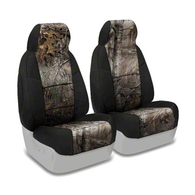 Coverking Real Tree Neosupreme Front Seat Covers - XTRA/Black (87-95 Jeep Wrangler YJ)