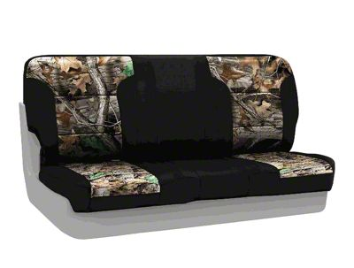Coverking Real Tree Neosupreme Rear Seat Covers - Advantage Timber/Black (87-95 Jeep Wrangler YJ)