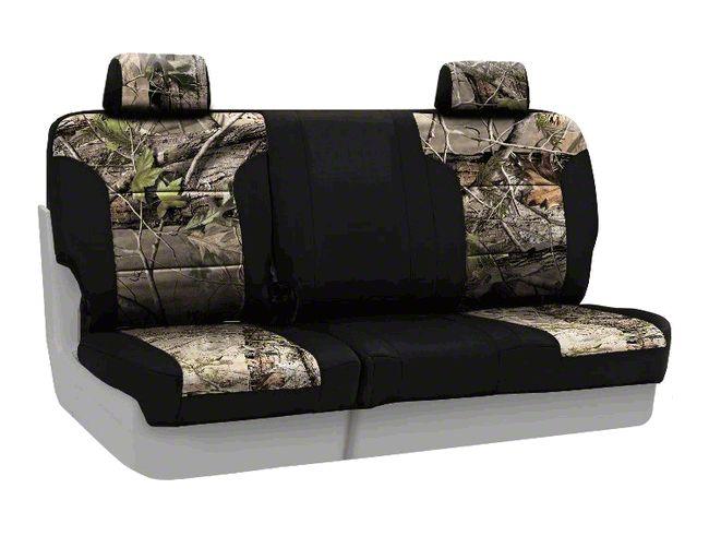 Coverking Real Tree Neosupreme Rear Seat Covers - APG/Black (07-18 Jeep Wrangler JK)