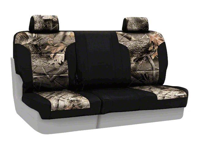 Coverking Real Tree Neosupreme Rear Seat Covers - Hardwoods/Black (07-18 Jeep Wrangler JK)